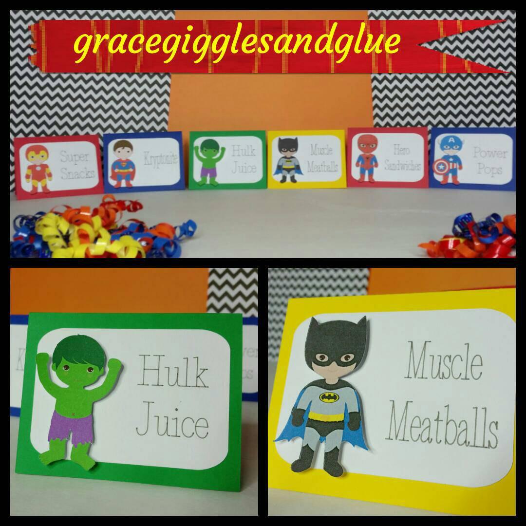 10 Superhero Themed Placecards