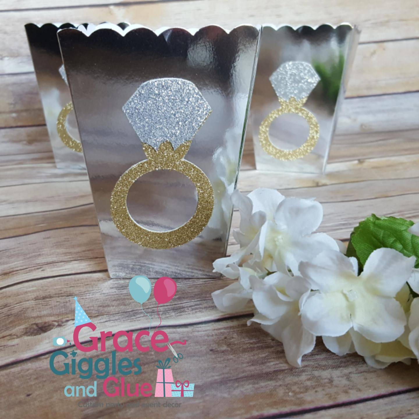 10 Gold Or Silver Glitter Diamond Ring Themed Favor Boxes. Matte Silver Wedding Rings. Jewelry Macy's Wedding Rings. Hollow Rings. Elegant Yellow Gold Wedding Rings. Key Chain Rings. 3 Stone Rings. Leaf Motif Engagement Rings. Kendra Scott Rings