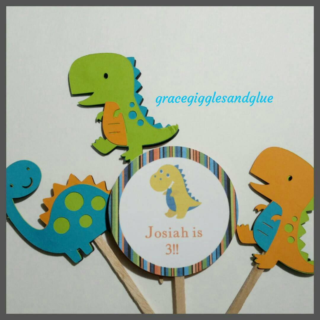 10 Personalized Dinosaur Themed Invitations, Birthday Invitations, T ...