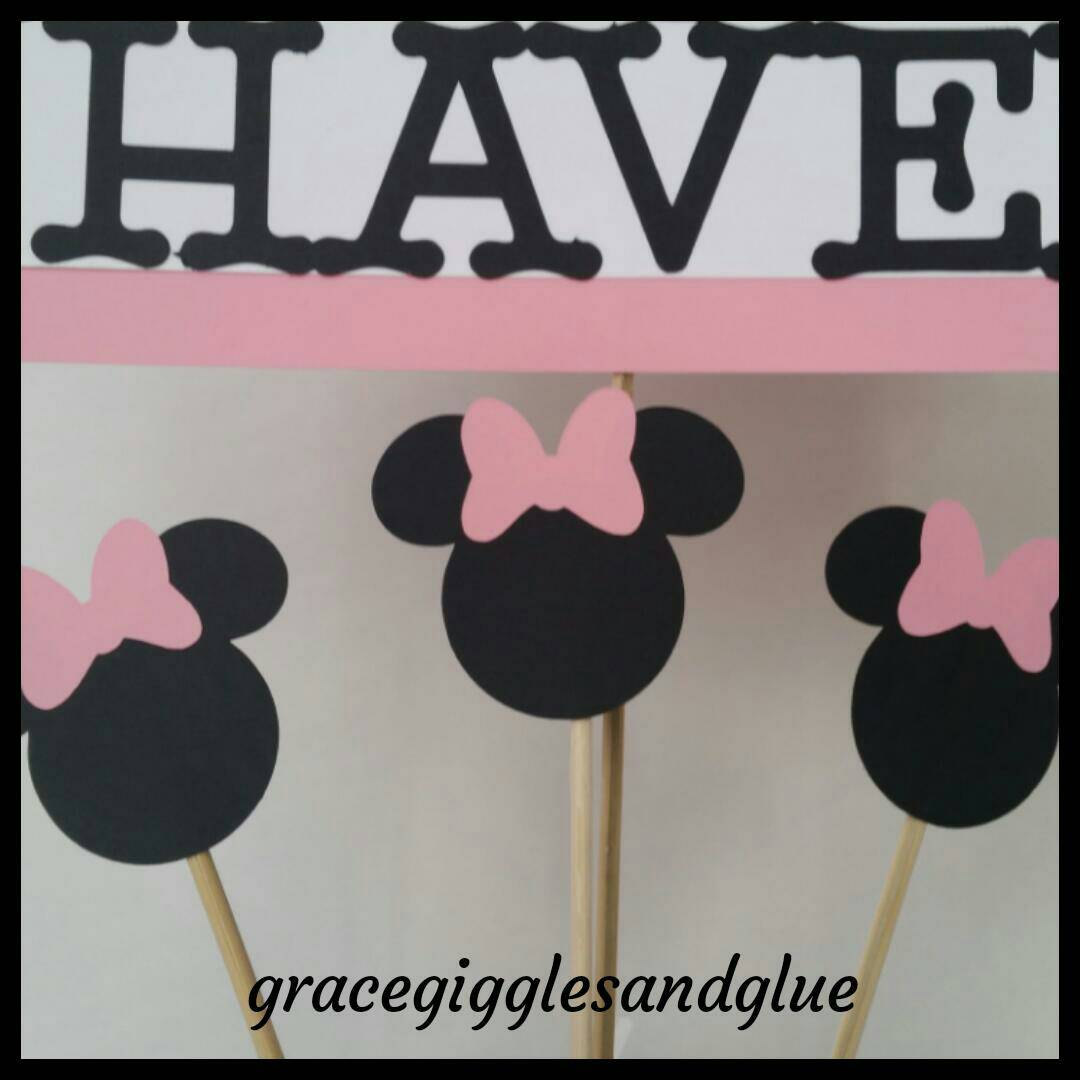 Minnie Mouse Inspired Centerpiece Minnie Table Centerpiece Baby