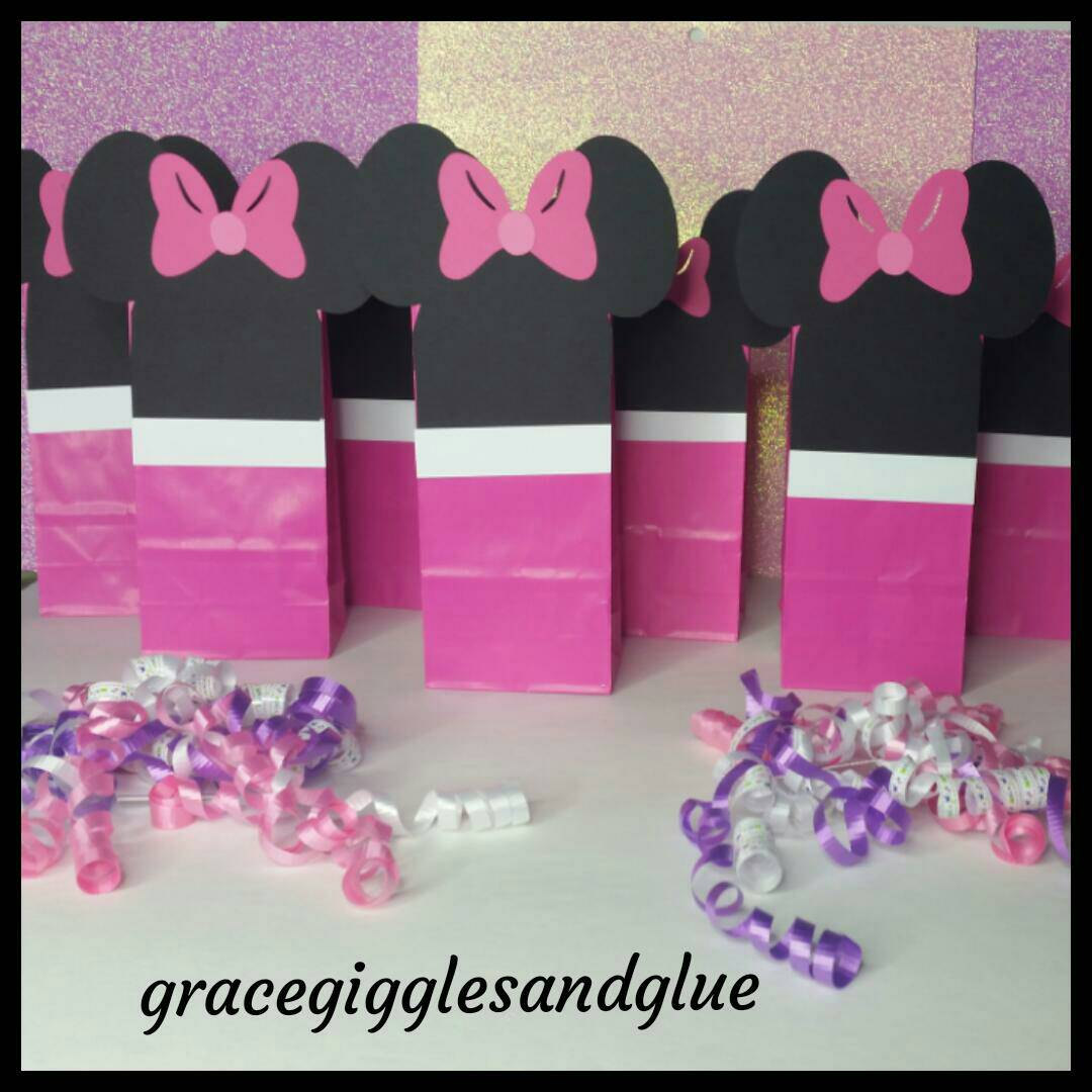 12 Small Minnie Favor/Snack Bags, Minnie Party Bags | Grace Giggles ...