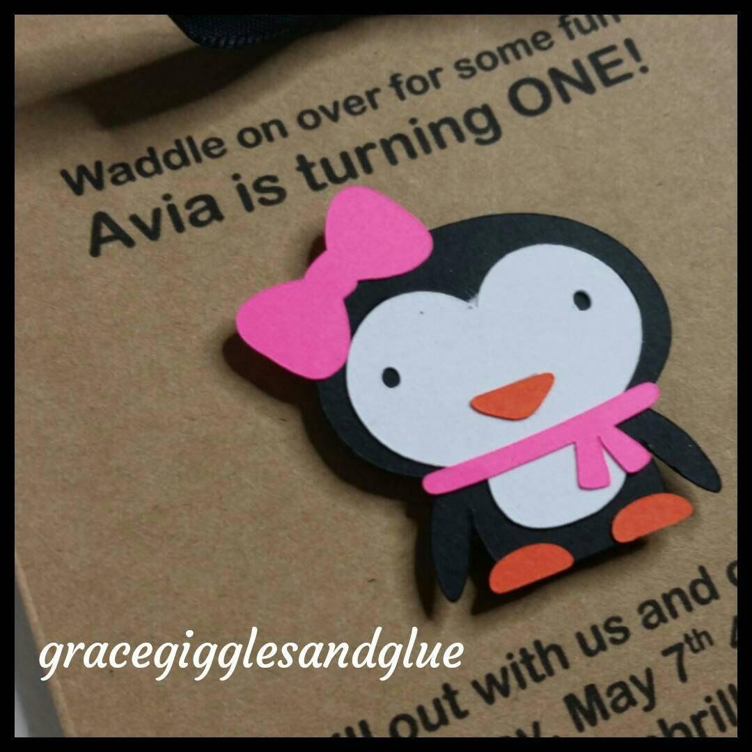 12 Personalized Penguin Invitations Birthday Invitations Baby